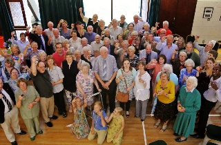 Players stage manager steps down from village hall committee after years of exemplary service